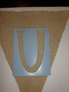 A stencil letter \'U\'