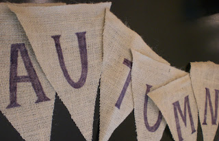 Banner pieces that say Autumn.