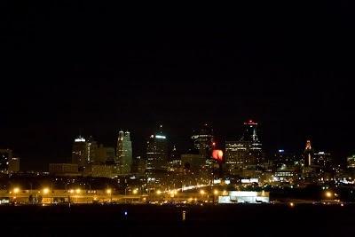 A view of Kansas City at night.