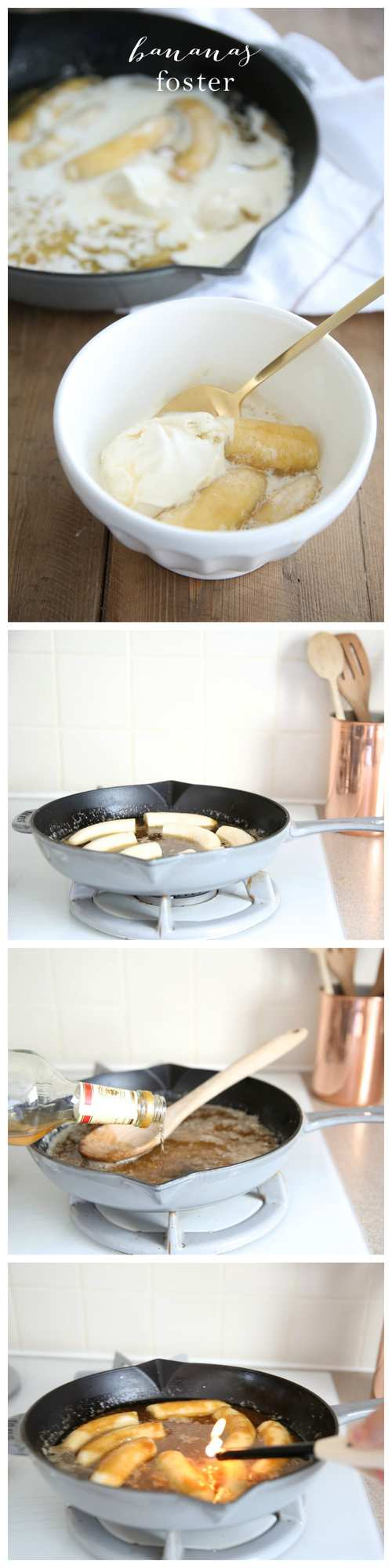 Step by step recipe for Bananas Foster