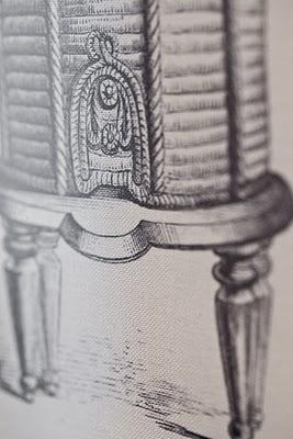 A drawing of a gazebo.