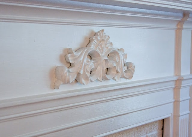 White Molding on a wall.