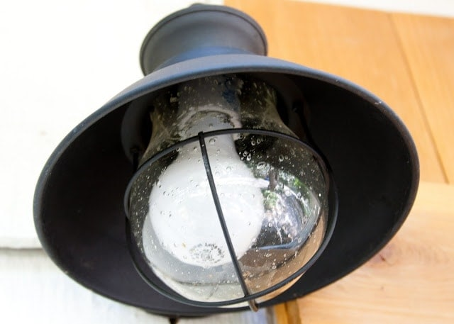 A vintage lamp.