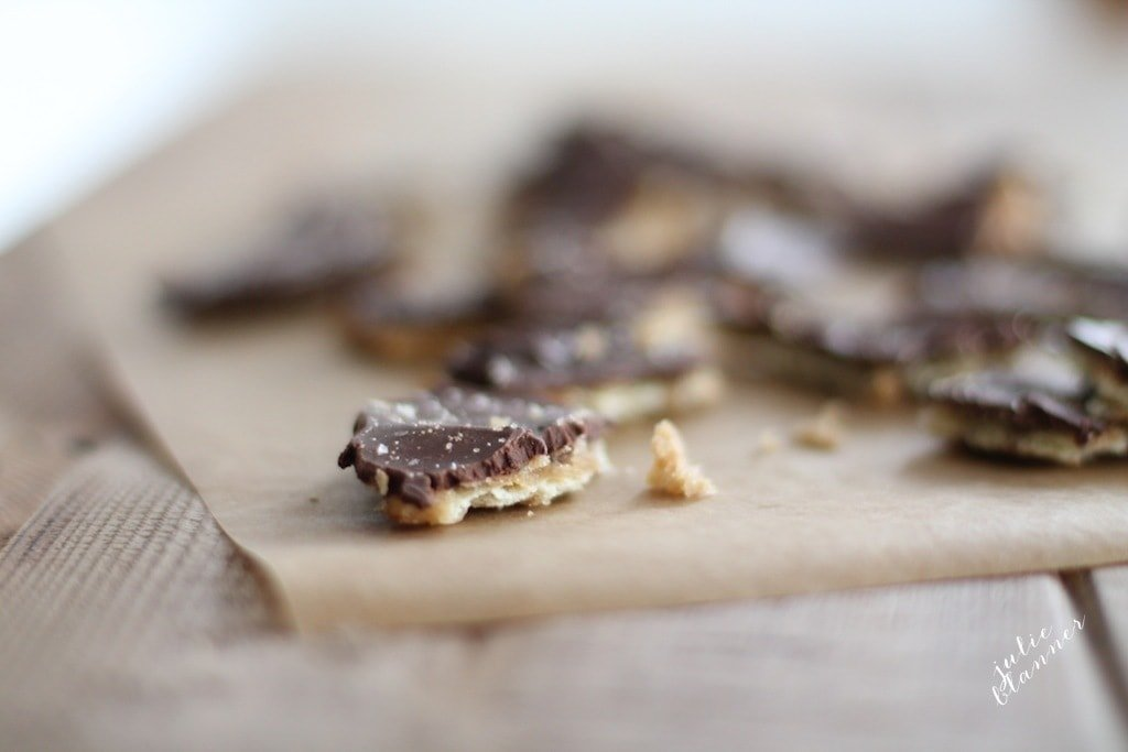 Easy & amazing toffee recipe. You'll never know the secret that lies beneath!