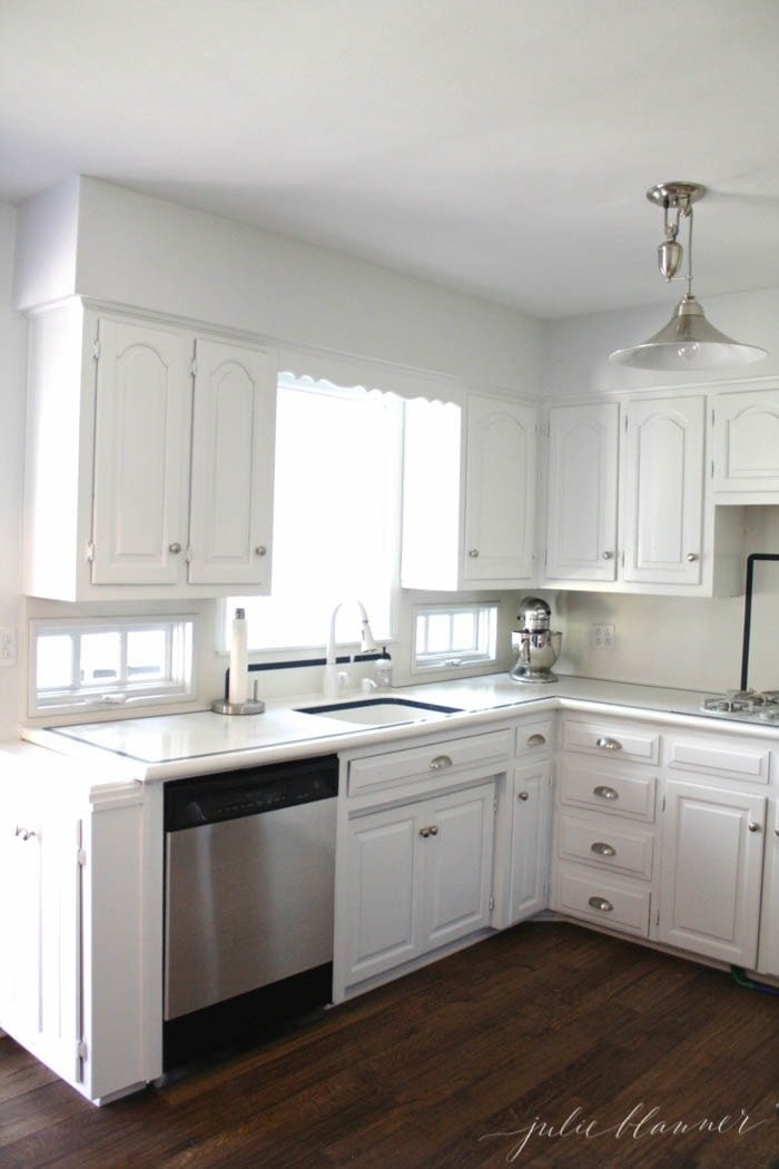 White Kitchen Stainless Appliances diy stainless steel appliances