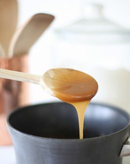 Easy 5 minute salted caramel sauce to top puddings, cakes, french toast, or dip apples!