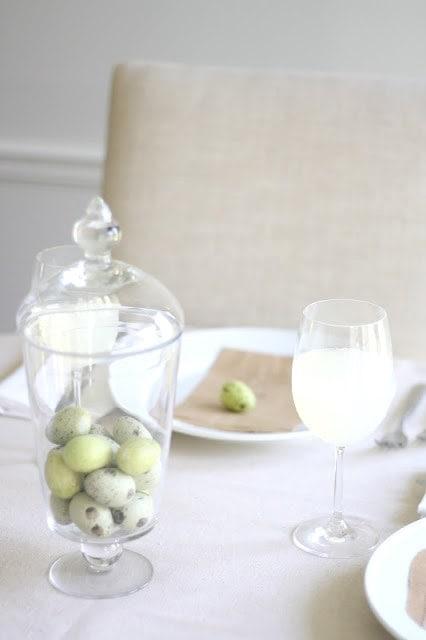 Simple Easter table setting idea