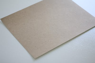 A piece of brown paper preparing for printing on fabric.