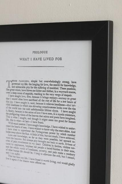 A book\'s prologue framed.