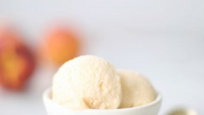 No churn homemade peach ice cream recipe