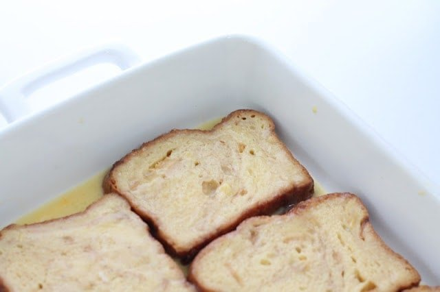 french toast in baking dish
