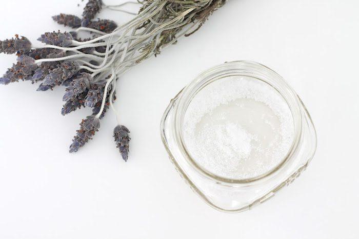 bath soak ingredients in a mason jar.