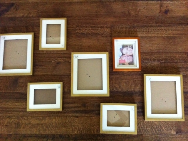 Picture frames scattered on the floor