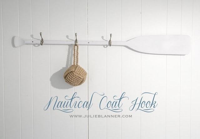 DIY Coat Hook on a paddle