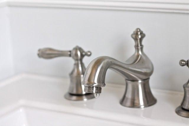 Silver sink hardware