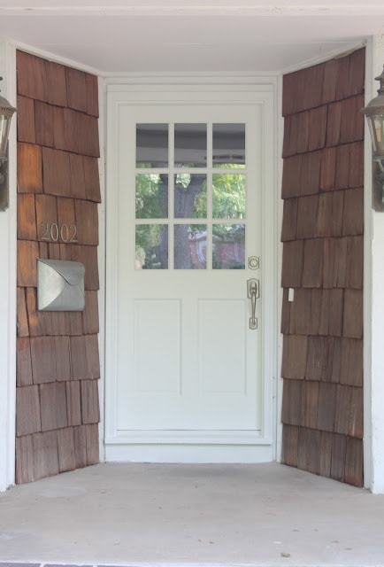 A white door with windows