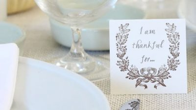 Free printable thankful for cards | Friendsgiving or Thanksgiving activity and placard