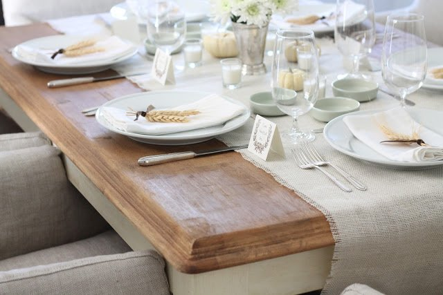 DIY harvest table via www.julieblanner.com