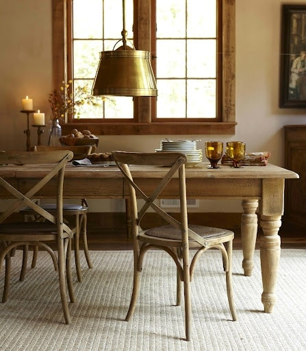 DIY harvest table - image via Williams Sonoma
