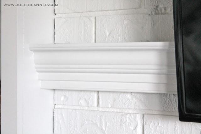 Painted white brick