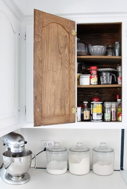 An open spice cabinet