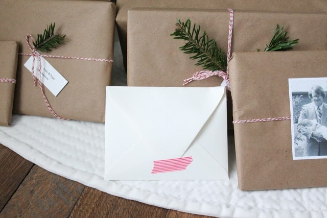 easy holiday gift wrap idea via www.julieblanner.com