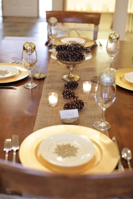pretty holiday table setting