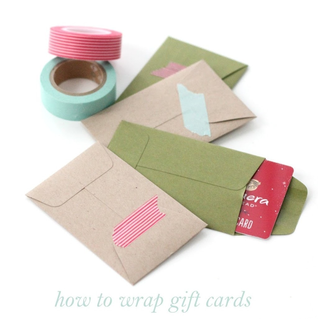 Beautiful way to wrap gift cards