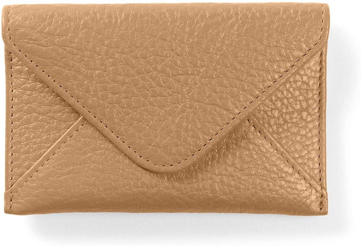 leather business card envelope to wrap gift card