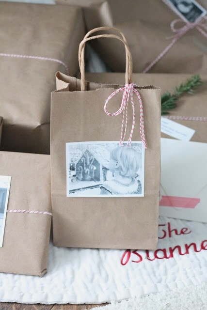 easy gift wrap idea via www.julieblanner.com