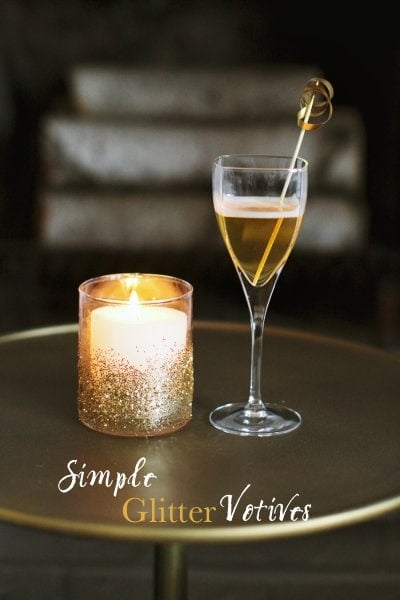 DIY Glitter Votives featured on Style Me Pretty