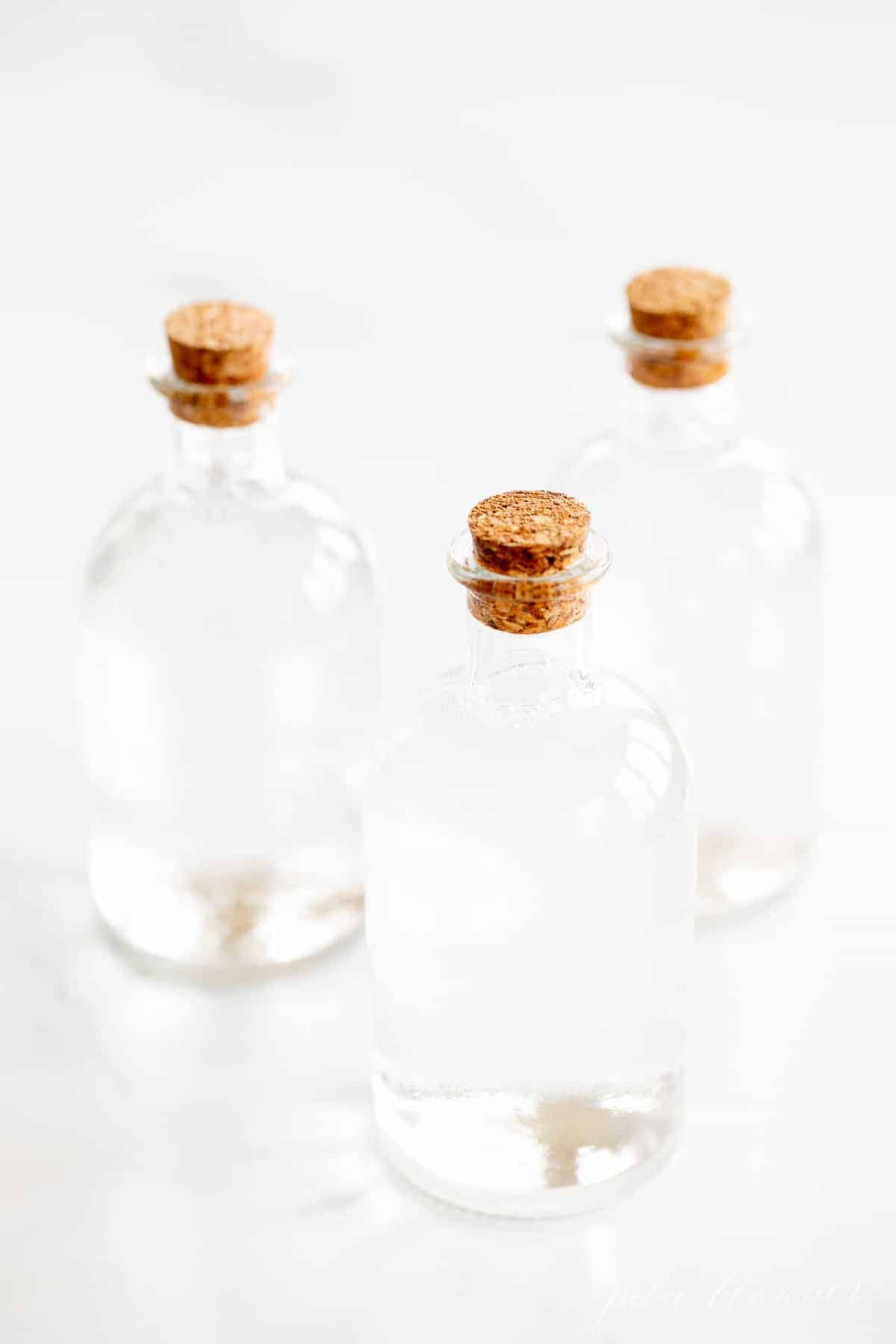 bubble bath in bottles