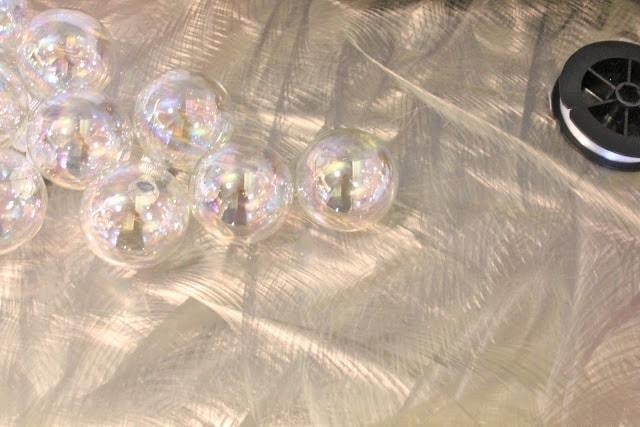 iridescent craft ornament balls