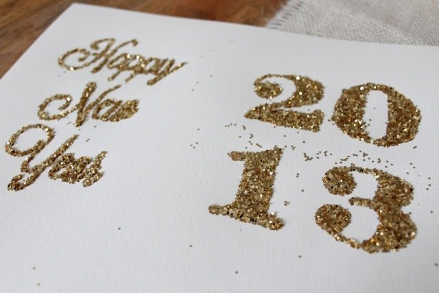 Gold glitter letters and numbers
