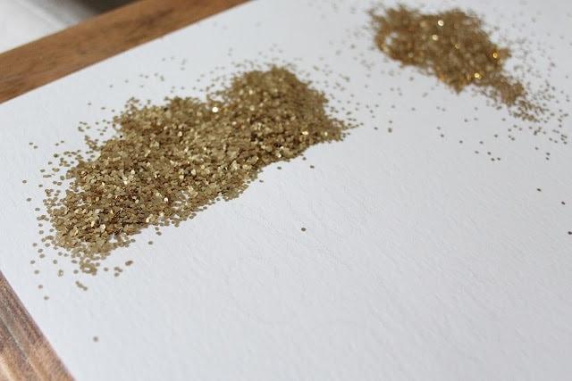 Leftover gold glitter