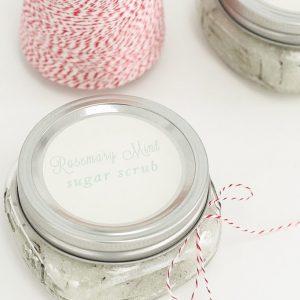 homemade rosemary mint sugar scrub the best winter fragrance
