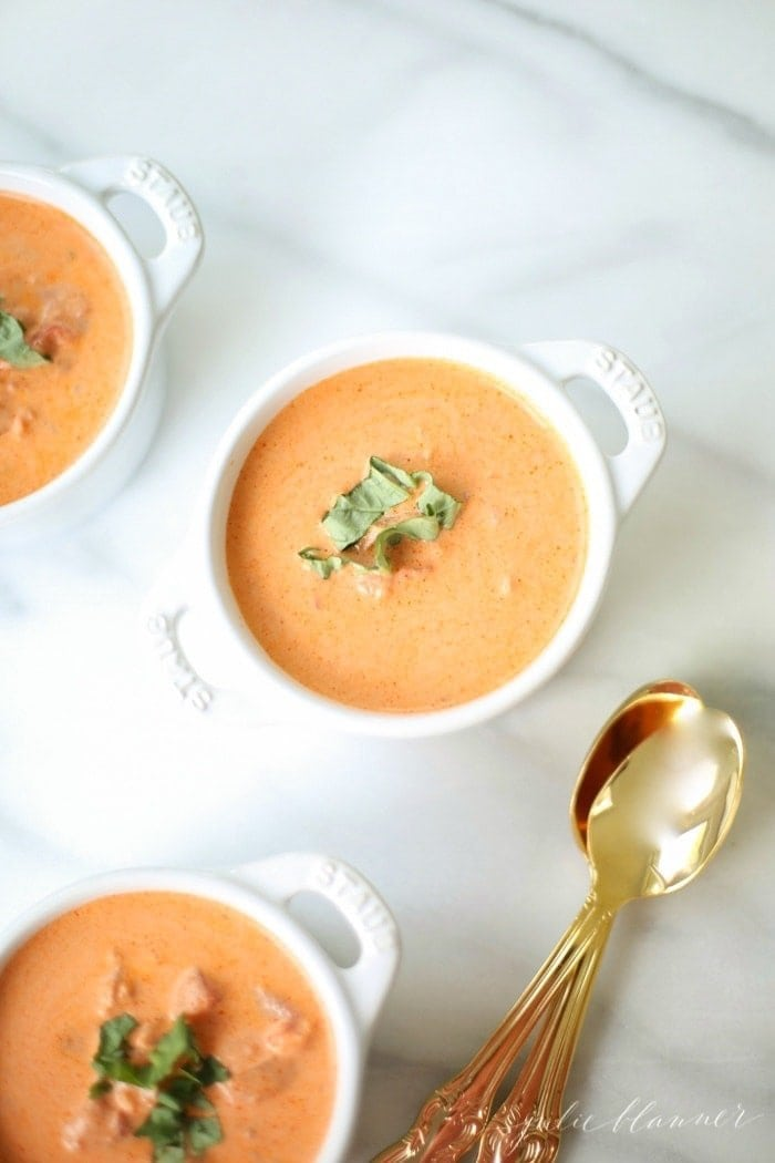 Skip the can - homemade creamy tomato soup made from scratch in minutes!