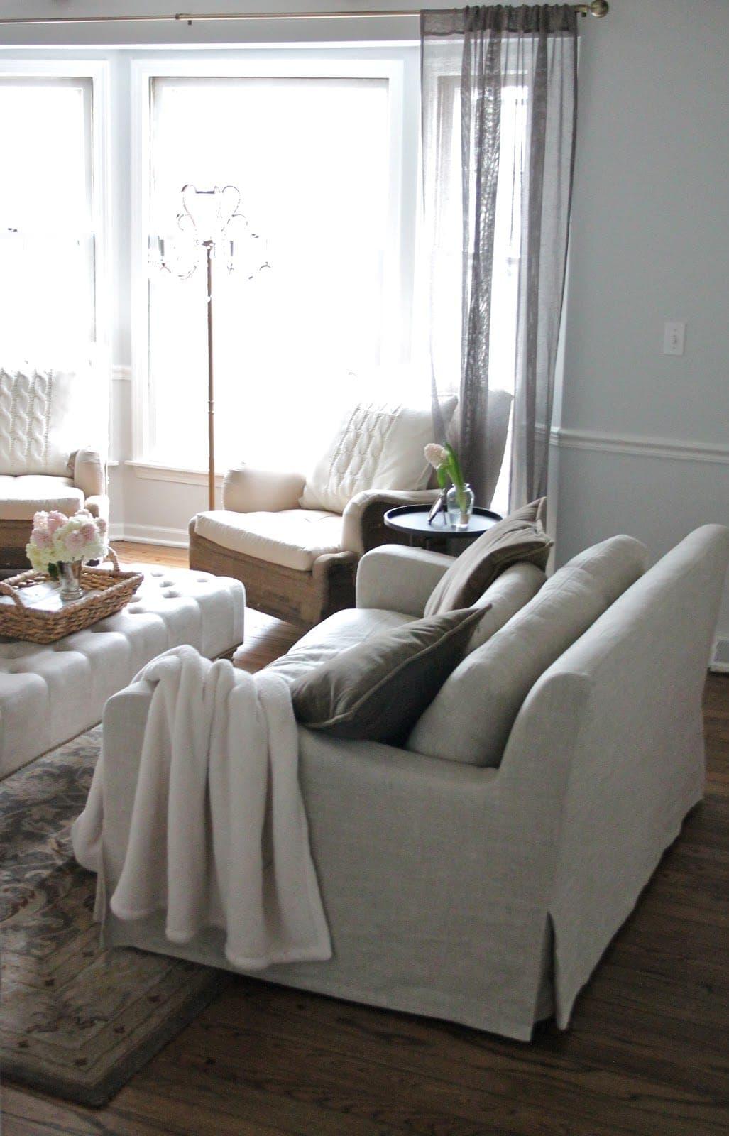Restoration Hardware Knock Off: Our Living Room