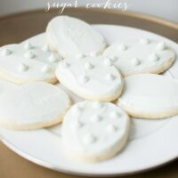Bakery Sugar Cookie Recipe - bakery quality sugar cookies with ease at home via julieblanner.com