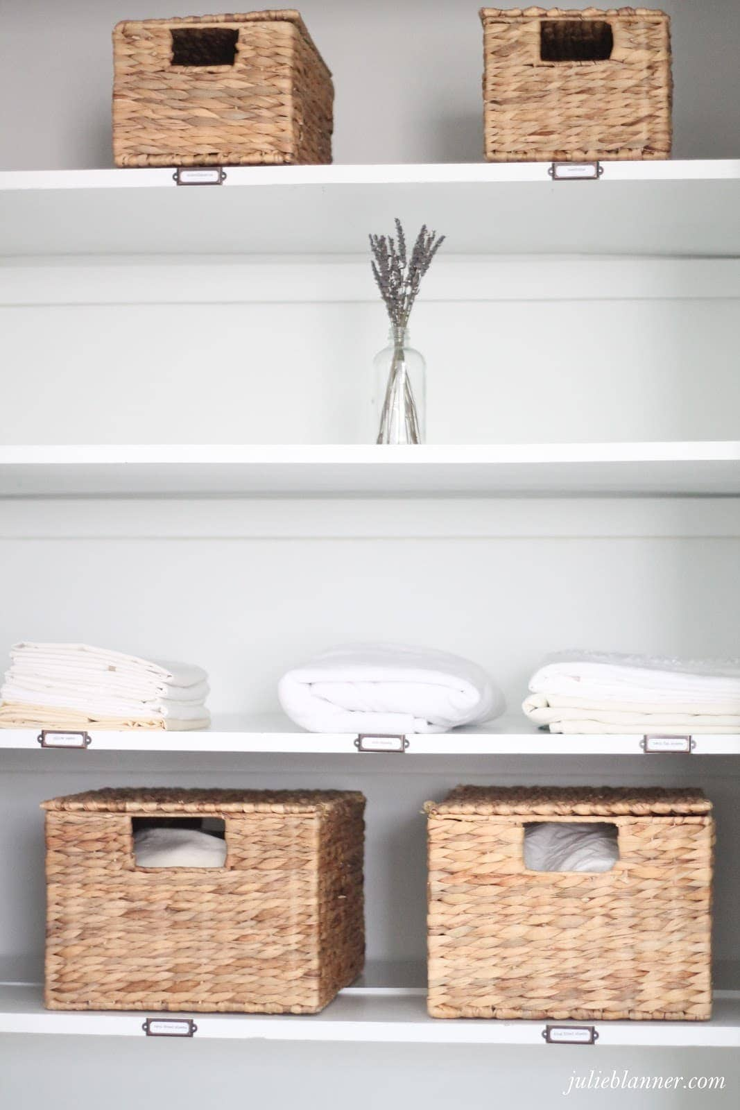 Superbe The Smaller Baskets Hold Medicine And First Aid Items That We Donu0027t Use  Often And The Other Holds Items Like Linen Spray, Room Spray And Wrinkle  Releaser.