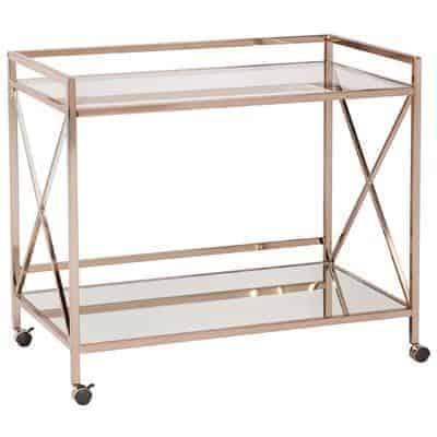 gold bar cart from World Market