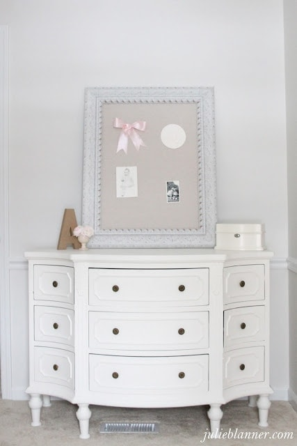 little girl pink & cream bedroom