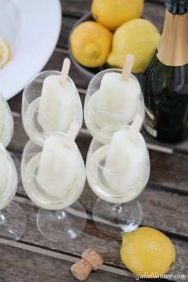 Champagne Popsicle signature drink