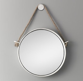 A small hanging mirror