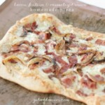Bacon Fontina & Caramelized Onion Homemade Pizza