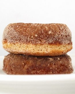 easy cinnamon sugar baked doughnut