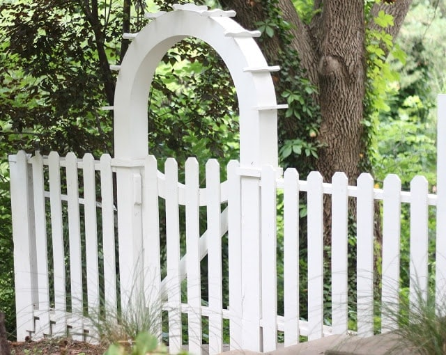 A white fence