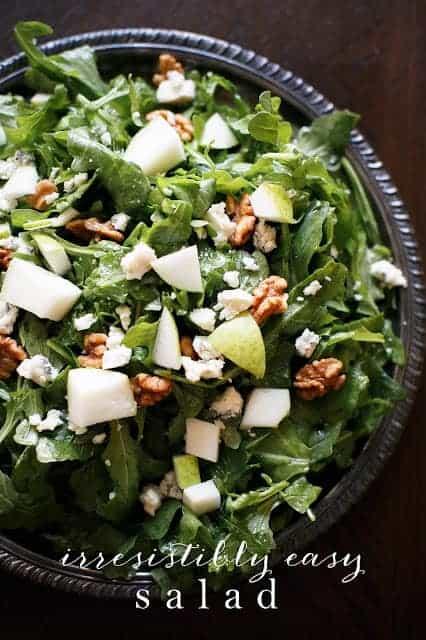 Easy salad recipe with white wine vinaigrette
