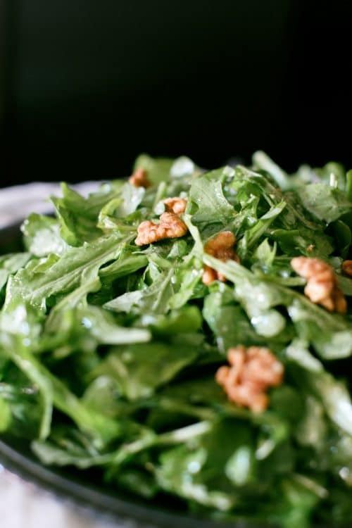 arugula and walnuts tossed in white wine vinaigrette