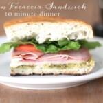 Italian Focaccia Sandwich | 10 Minute Recipe